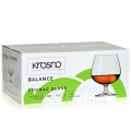 Duże kieliszki do koniaku brandy KROSNO Balance 480 ml