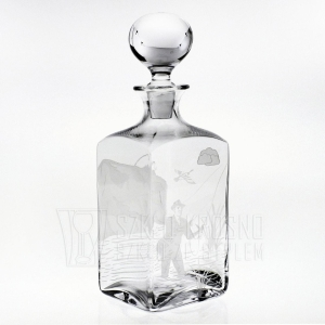 "Karafka do whisky ""Wędkarska"" 1000ml (3)"